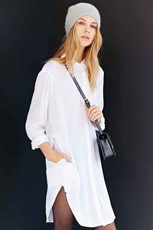 Urban Outfitters Silence + Noise Annie Silky Shirtdress