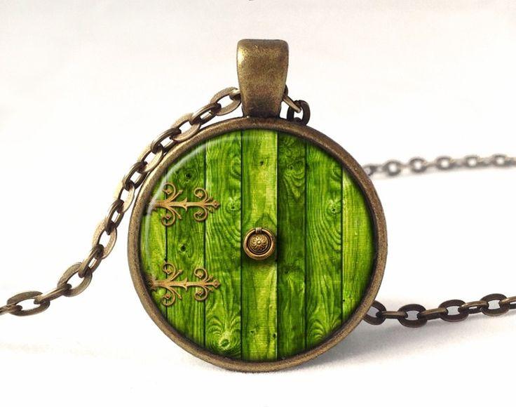 HOBBIT DOOR Necklace, LOTR Pendant, 0332PB from EgginEgg by DaWanda.com