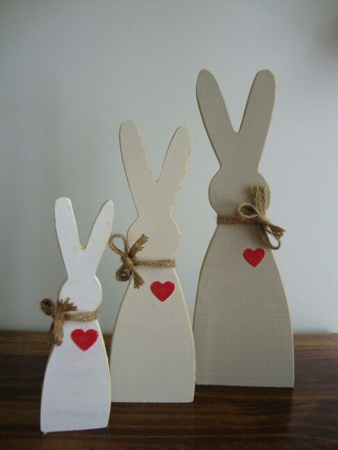 Bunnies - R145 per set. Size - Small 170mm(h), Medium 230mm(h) & Large 280mm(h).