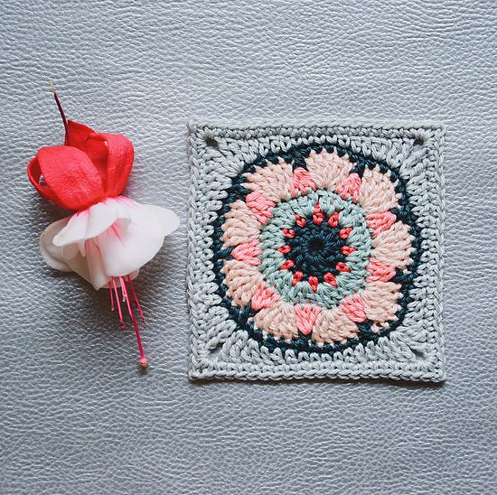 How to grow a crocheted granny square flower? I had a dream. My new granny square crochet project is in progress. :)With Love,Bori