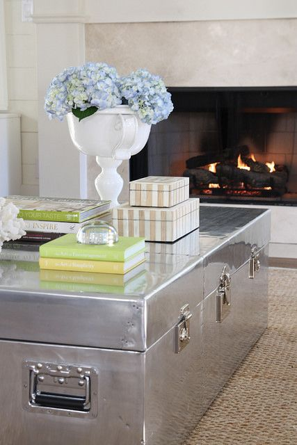 Silver Trunks As Coffee Table