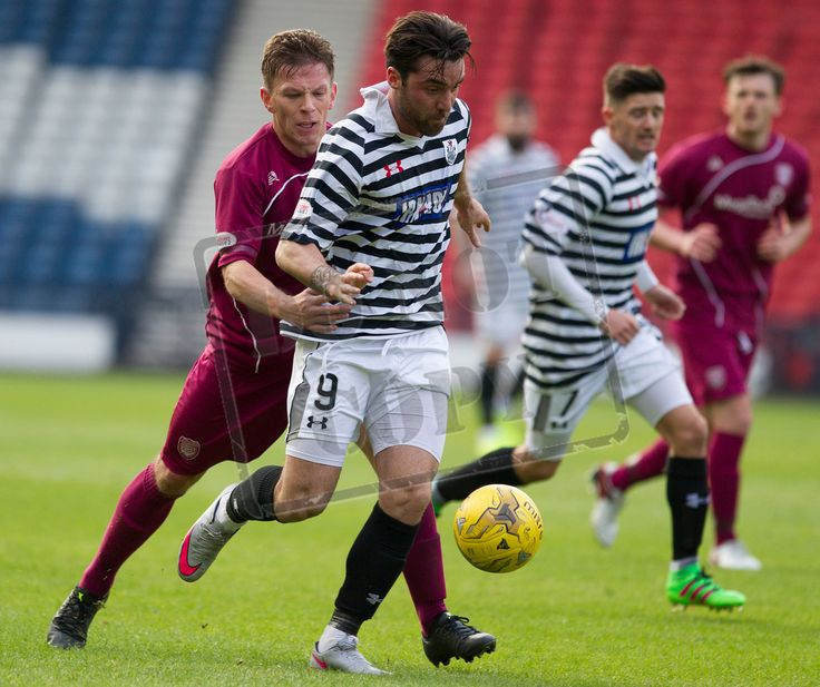 Queen's Park's Chris Duggan on the ball during the SPFL League Two game between Queen's Park and Arbroath.