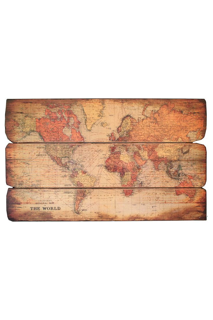 world map wooden pallet wall art by iron trade imports pallets pinterest pallet wall art. Black Bedroom Furniture Sets. Home Design Ideas
