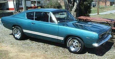 1967 Barracuda with '68 stripes.