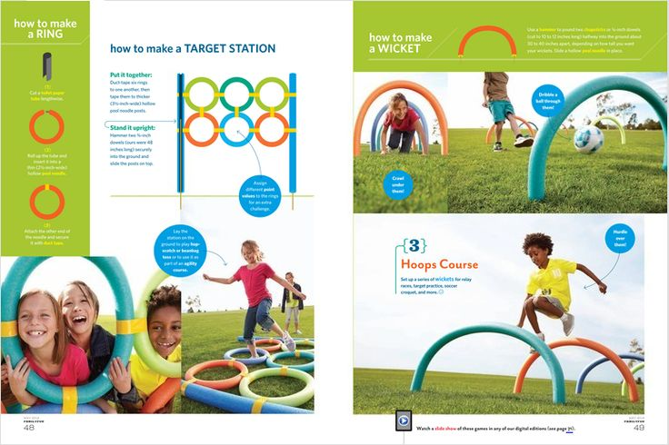 Use pool noodles for field day games  (From Family Fun magazine May 2012, pg. 46-49)