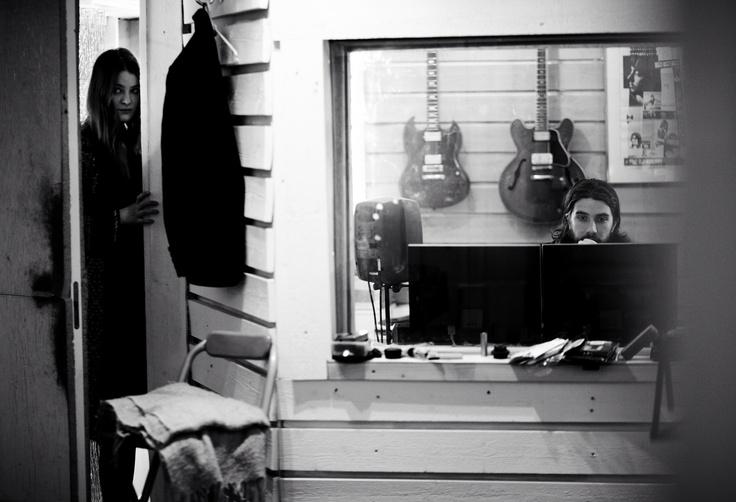 Lina & Mats in Mando Diao studio, recording Caviare Days debut album