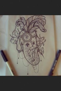 Circus Elephant Tattoos on Pinterest | Elephant Thigh Tattoo Circus ...