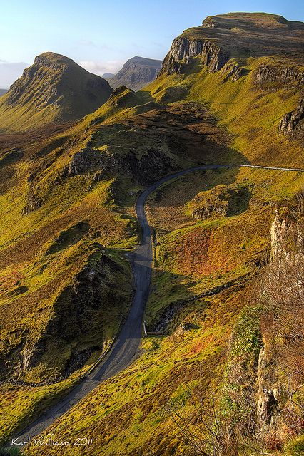 Trotternish Ridge looking South from the Quiraing, Isle of Skye, Scotland: an early morning view, by Karl Williams