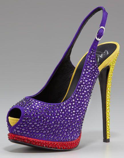 Giuseppe Zanotti colorful slingbacks: Giuseppezanotti, Platform Slingback, Giuseppe Zanotti, Crystals Colorblock, Glitter Shoes, Women Shoes, Swarovski Crystals, Colorblock Platform, Zanotti Crystals
