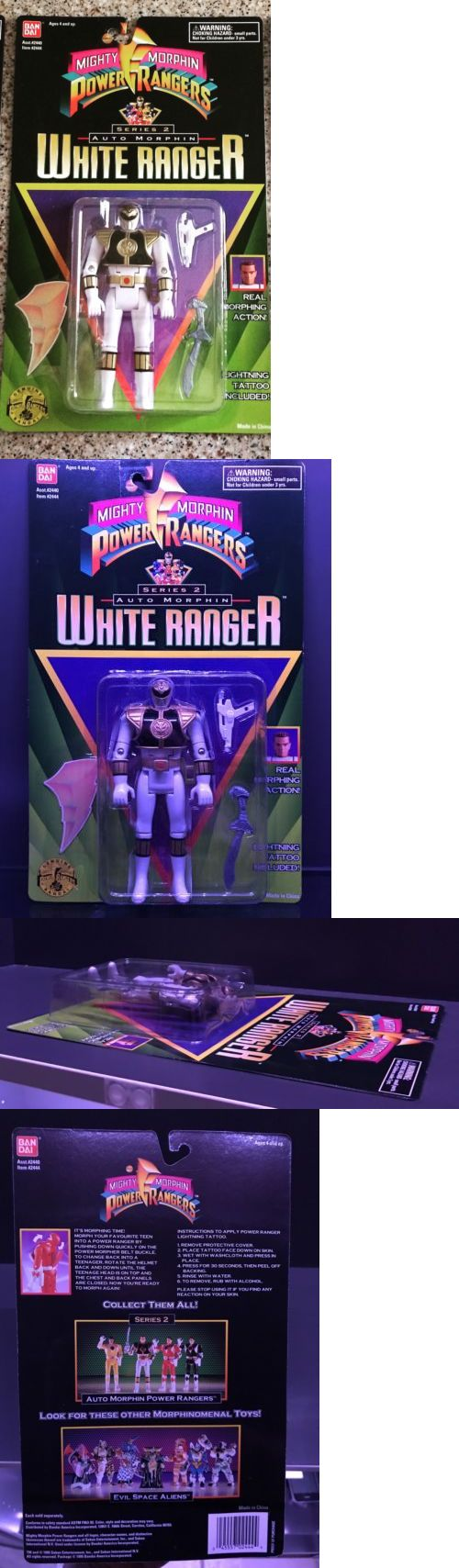 TV Movie and Video Games 75708: Power Rangers Series 2 Auto Morphin White Ranger Action Figure Bandai 1995 Mmpr -> BUY IT NOW ONLY: $235 on eBay!