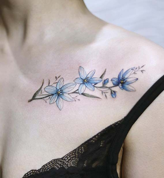 Jaw Dropping Ideas For Tattoess: 43 Jaw-Dropping Collar Bone Tattoos For Women