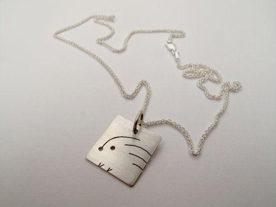 Hedgehog pendant. Sterling silver hedgehog pendant on a by Wockit, £30.00