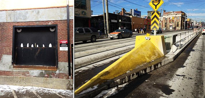 """Toon Bombing"" – Μετατρέποντας τους δρόμους του Toronto σε κινούμενα σχέδια – Aiden Glenn"