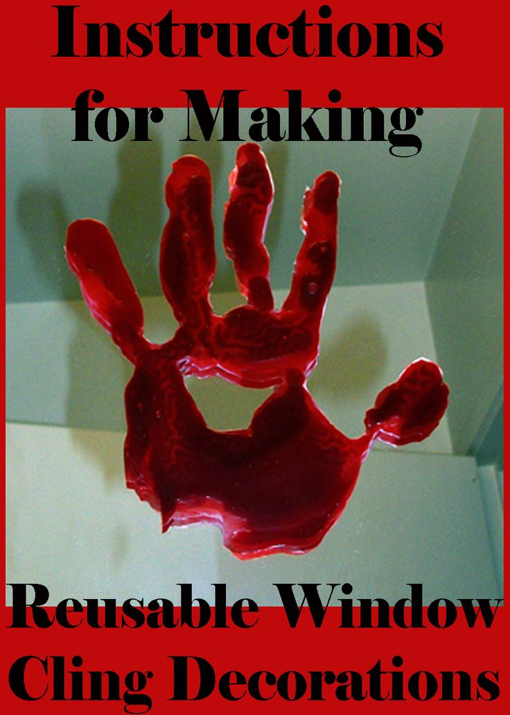76 best halloween images on pinterest halloween prop halloween do it yourself bloody handprint window clings solutioingenieria Images