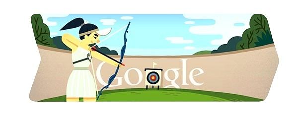 Burbujas Web - Noticias internacionales: Doodle dedicado al Tiro con Arco de los Olímpicos