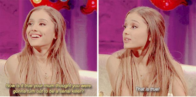 She really doesn't care about coming off weird in interviews. | 22 Times Ariana Grande Was Actually Pretty Damn Surprising