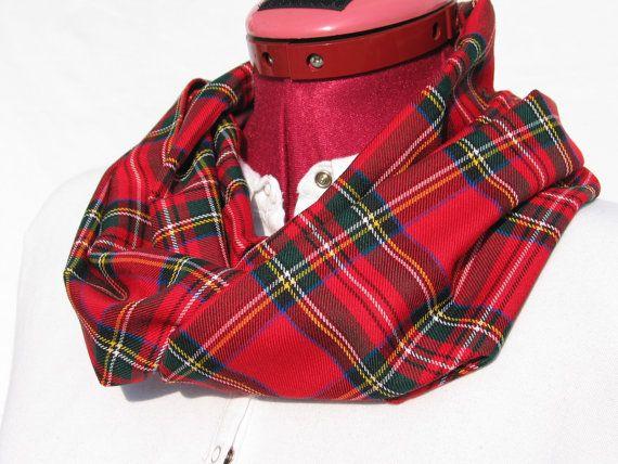 Royal Stewart Tartan Infinity Scarf Red Tartan by dolldressedup