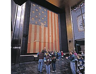 Star-Spangled Banner exhibit at the Smithsonian's National Museum of American History