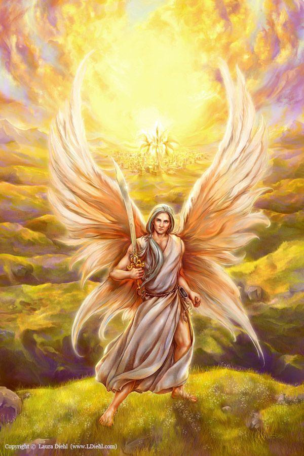 São Miguel Arcanjo, defendei-nos no combate, sede o nosso refúgio contra as maldades e ciladas do demônio. Ordene-lhe Deus, instantemente o pedimos, e vós, príncipe da milícia celeste, pela virtude divina, precipitai no inferno a satanás e aos outros espíritos malignos, que andam pelo mundo para perder as almas. Amém