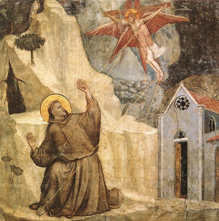 Giotto di Bondone (1266/7-1337), Stigmatization of St. Francis [Bardi Chapel].