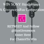WIN SONY Headphones Giveaway (E9LP In-ear type)