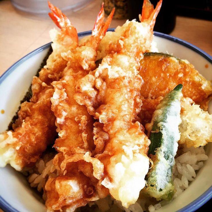 お昼は天丼とシジミ味噌汁をヤラカシたよ( ) ではでは天丼 (-()モグモグモグ by mayuge0807
