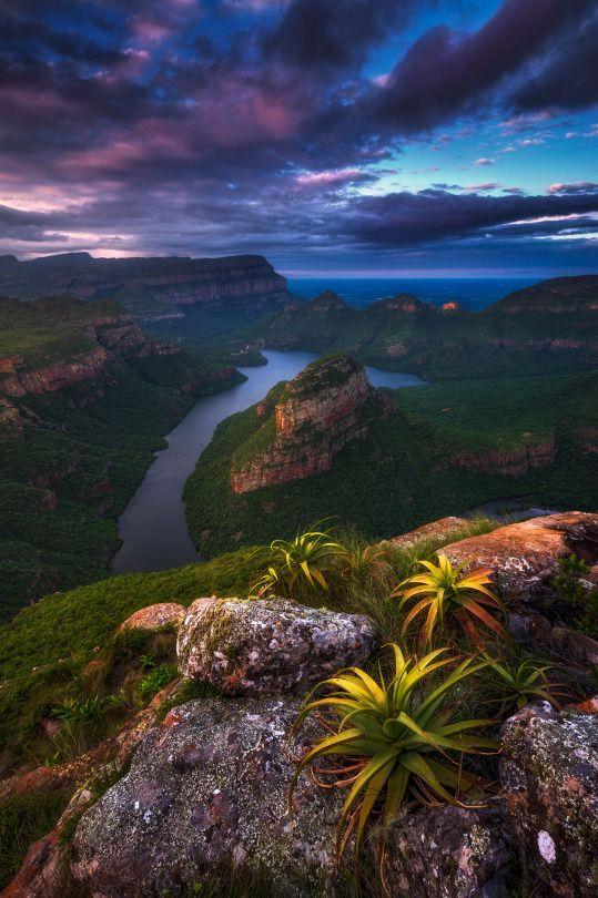 Blyde River Canyon at Mpumulanga, South Africa...
