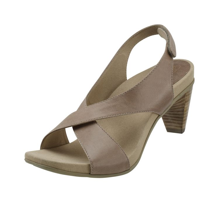 'Courtney' Heeled Sandal in sand - new for Spring 2014