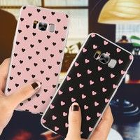 Wish | Love Heart Pink Color Case for iPhone 6 S 6S Plus 7 8 Plus X 5 5S SE Cover Coque For Samsung Galaxy S5 S6 S7 Edge S8 Plus A3 A5 J2 J5 J3 J7 Prime 2016 2017 Note 8