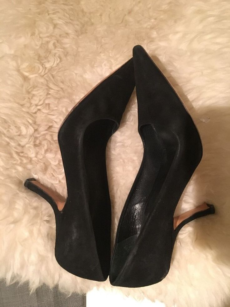 Prada black suede Pointed Toe Classic Pumps Size 6 (US) 37(EU) #Prada #PumpsClassics