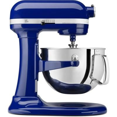 KitchenAid Professional 600 Series 6 qt. Bowl Lift Stand Mixer with Pouring Shield in Cobalt Blue-KP26M1XBU at The Home Depot