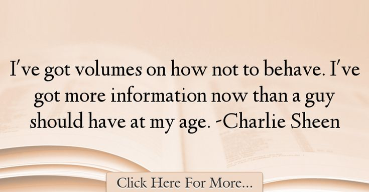 Charlie Sheen Quotes About Age - 143