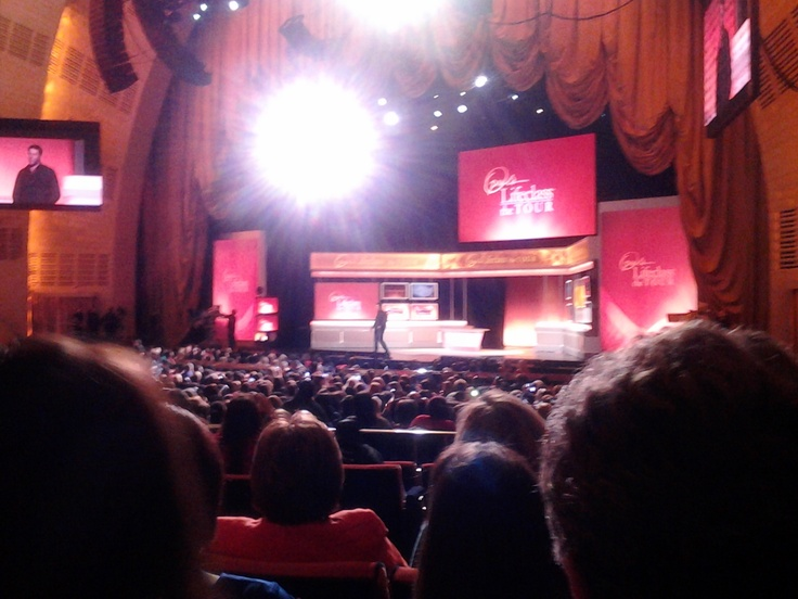 Inside Radio City Music Hall during Oprah's #Lifeclass. I learn so much yesterday and I can not wait to implement these new tools in my life.