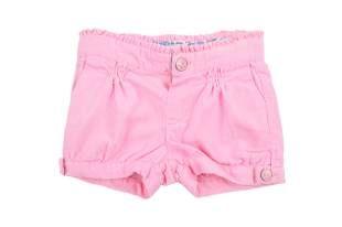 Shorts para bebe niña confeccionado en corduroy color rosado.