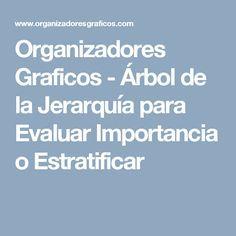 Organizadores Graficos - Árbol de la Jerarquía para Evaluar Importancia o Estratificar