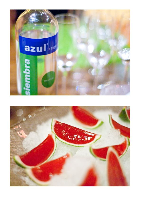 tequila shots with watermelon-lime jello chasers... OR how about watermelon-lime tequila jello shots?! Yes please :)