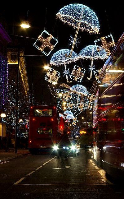Oxford Street Christmas lights - London, England.