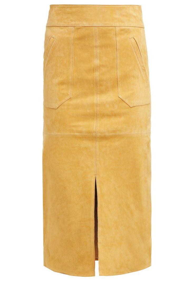 Dorothy Perkins Spódnica ołówkowa yellow