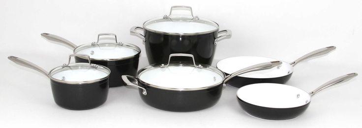 Oneida 10 Piece Forged Aluminum Black Cookware Set