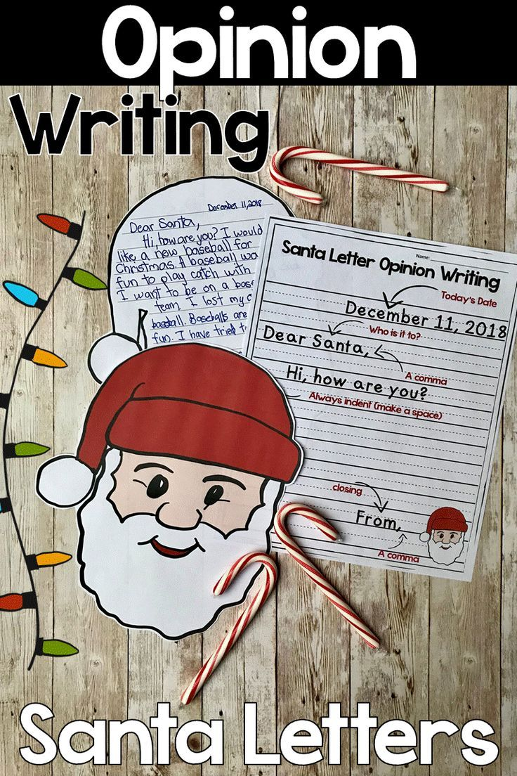 Get Students To Use Opinion Writing In A Letter To Santa They Will Get To Practice Their 1st Grade Christmas Writing Activities Santa Letter Christmas Writing