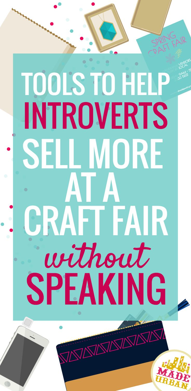 Tips to help introverts sell more without speaking craft for Crochet crafts that sell well