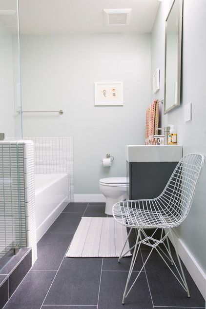 Contemporary Bathroom by Nanette Wong - brightening up a windowless bathroom
