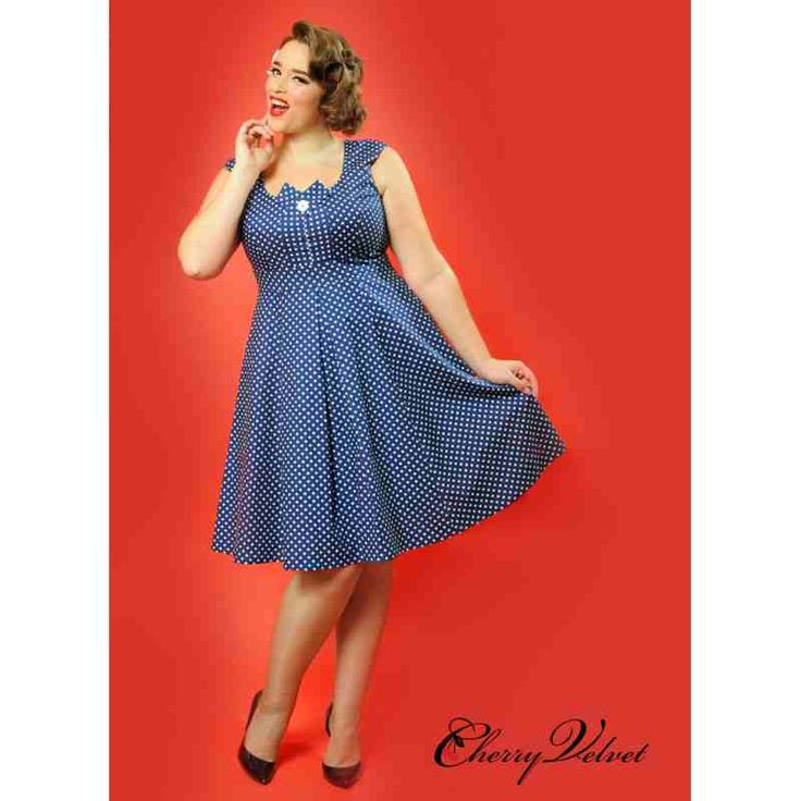PRE-ORDER - Kate Dress (Navy and White Polka Dot) $244.00 http://www.curvyclothing.com.au/index.php?route=product/product&path=95_151&product_id=10249