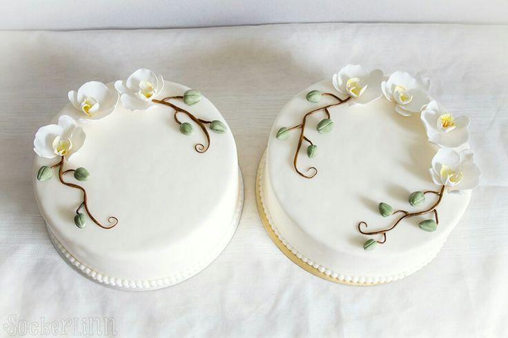Enkla tårtor tårta begravning simple cake cakes orchids sugarpaste orkidéer funeral cake cakes  ⭐sockerlinn.se⭐