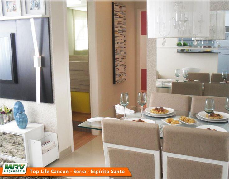 Sala Pequena Decorada Mrv ~  MRV Engenharia  Sala de Jantar  Decorado SerraES  MRV  Pinterest