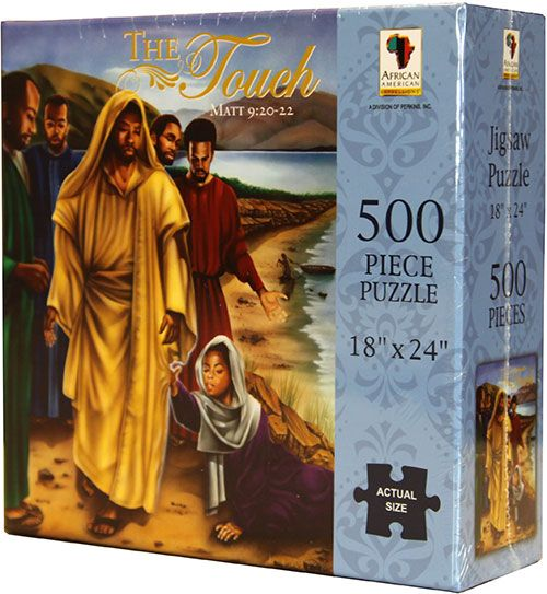 PUZ06 The Touch (Jesus healing the sick woman) 500-piece puzzle, by African American Expressions