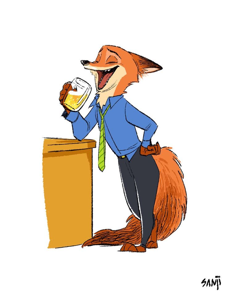 Friday night!  Nick Wilde in Zootopia