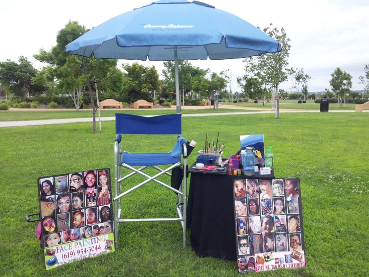 My face painting set up in San Diego...https://www.pinterest.com/tazmarie786/festival-and-fair-set-ups-i-love/