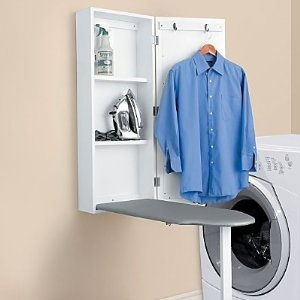 Amazon.com: Wall Mount Ironing Board Cabinet - Improvements: Home & Kitchen WANT! Perfect on my bathroom/laundry room wall.