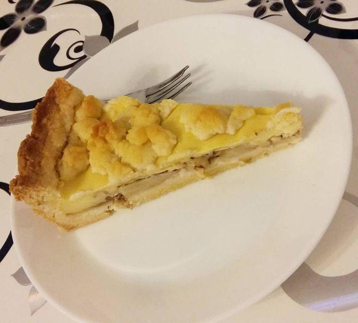 Piece of cake  #apple #and #cinnamon #zimt #apfel #elma #tarcin #pasta #kek #pie #kuchen  #streusel #mürbteig #vanilla #pudding #photooftheday #food #instamood #instagood #love #life